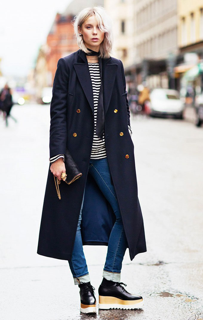 A Cold-Weather Classic: The Navy Coat. Click through for the details.   glitterinc.com   @glitterinc
