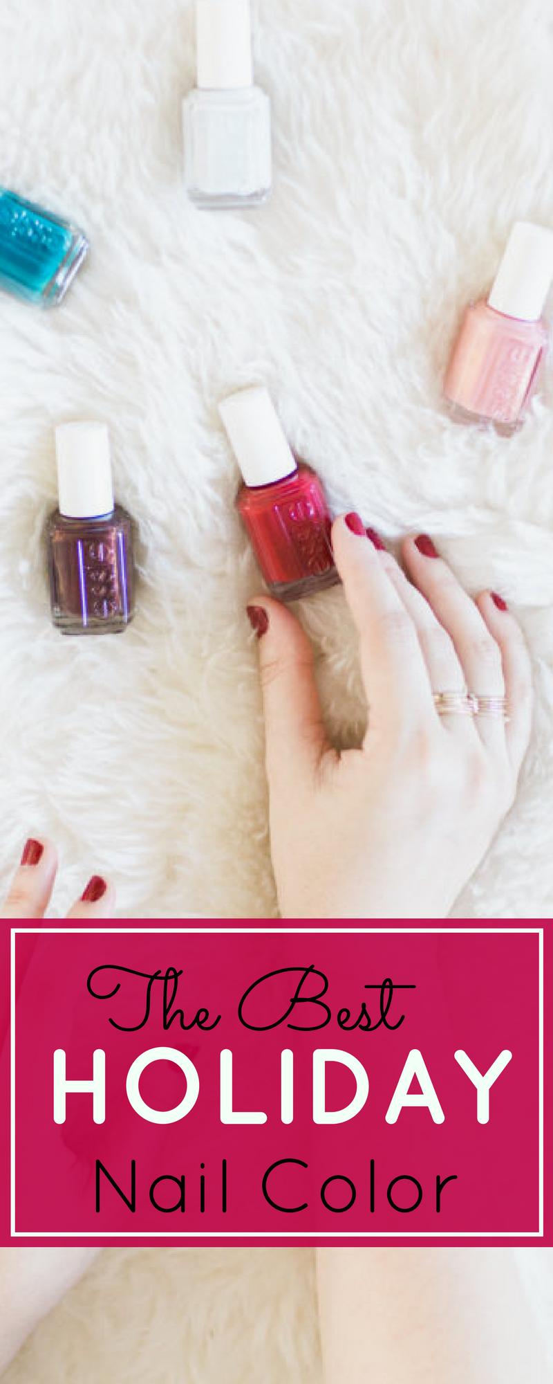 The perfect festive nail color for this holiday season. | glitterinc.com | @glitterinc