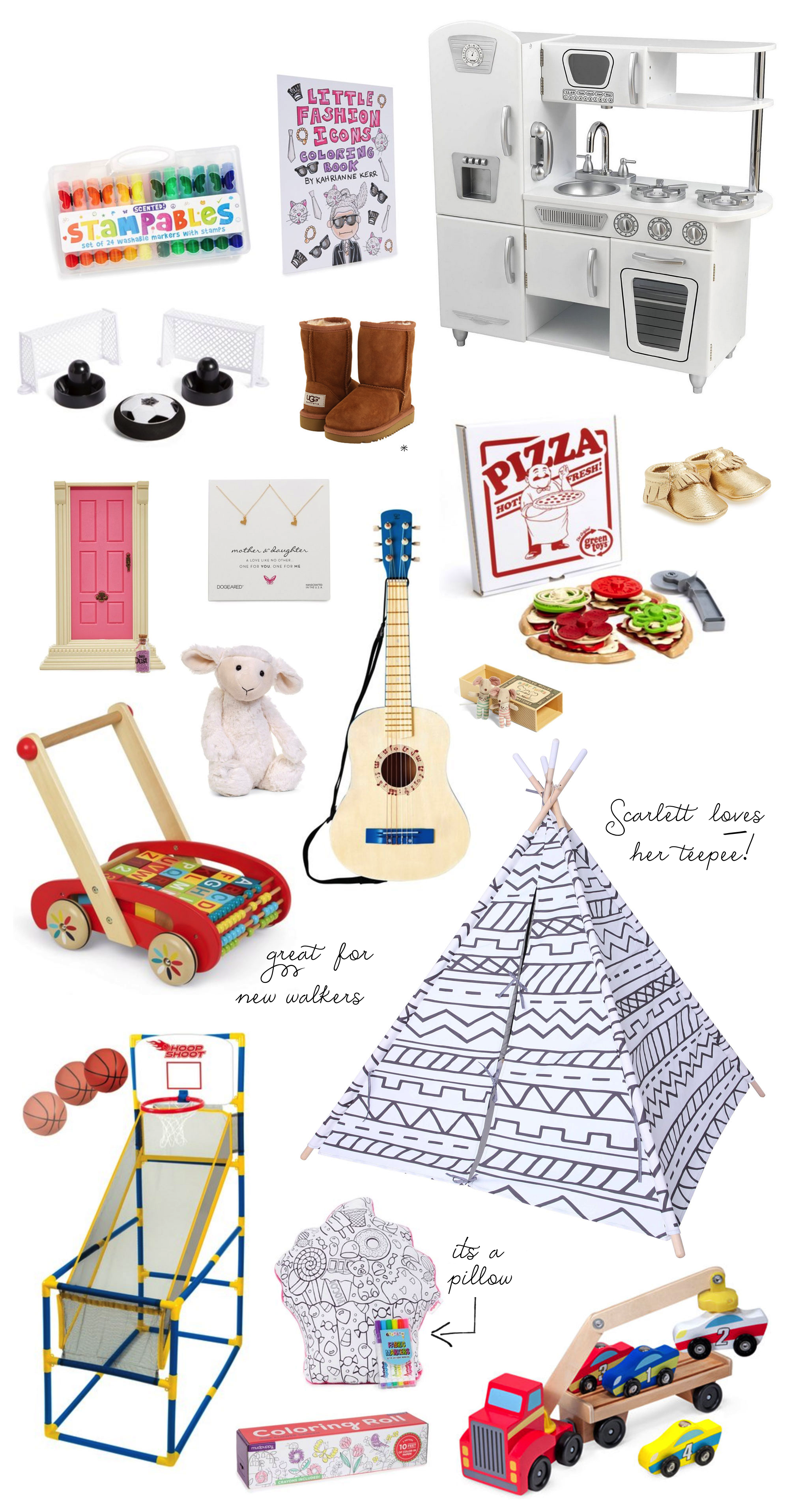 GIFT GUIDE | From babies to kids - I'm rounding up our favorite toys, books, and activities that your littles will surely love. Click through for the details. | glitterinc.com | @glitterinc