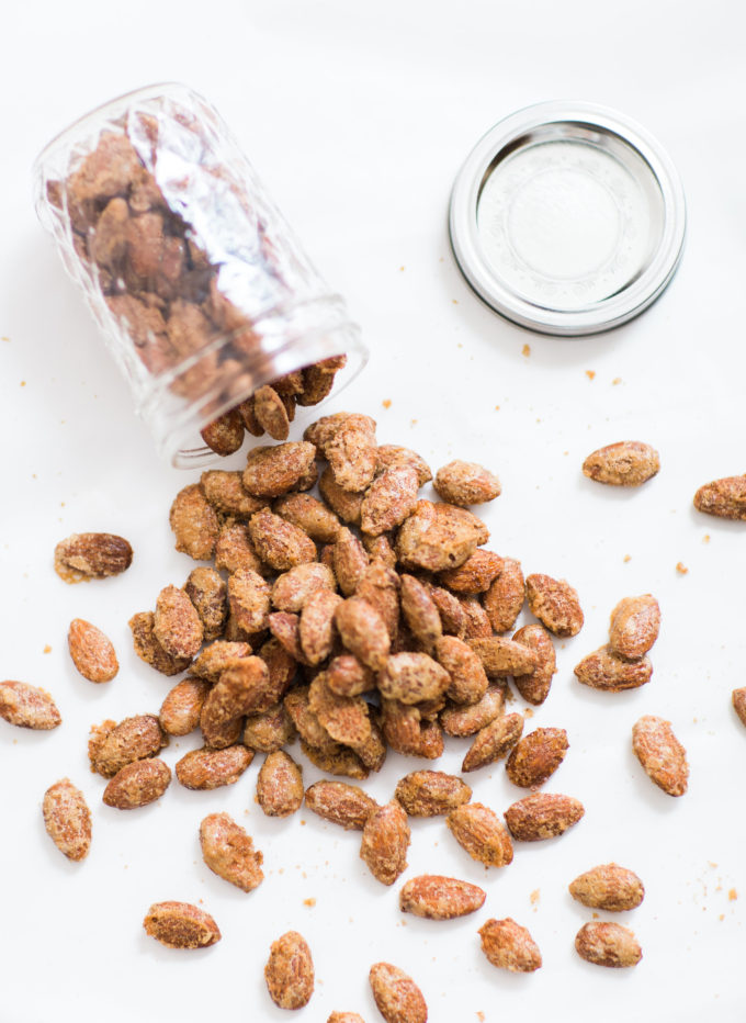 How to make candied cinnamon-roasted almonds. Click through for the simple but amazing recipe. | glitterinc.com | @glitterinc