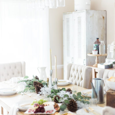 Farmhouse Style Winter Wonderland Holiday Party