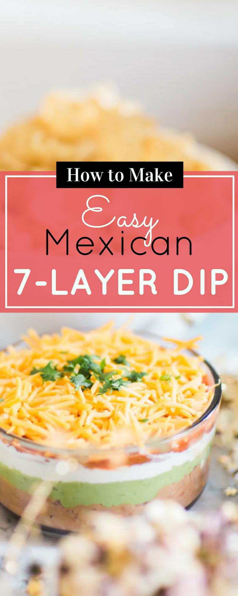 A quick and easy recipe for the BEST Mexican 7-layer dip. | glitterinc.com | @glitterinc