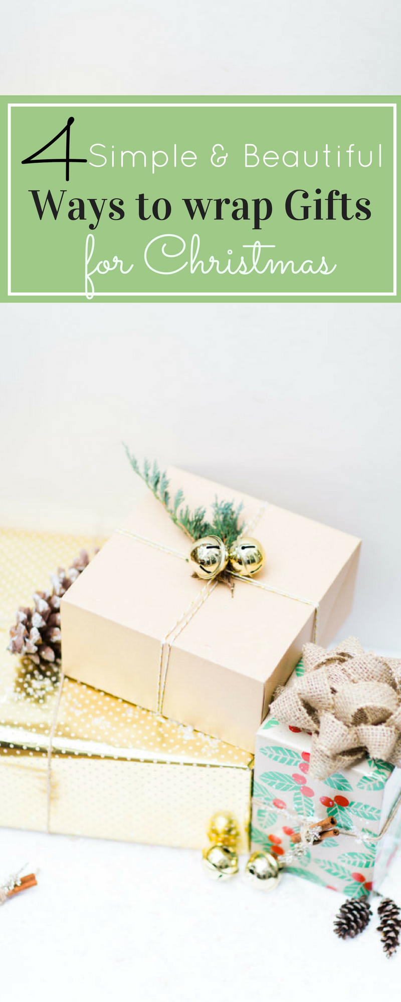 4 Simple (and Beautiful) Ways to Wrap Gifts this Holiday Season. Click through for the details. | glitterinc.com | @glitterinc