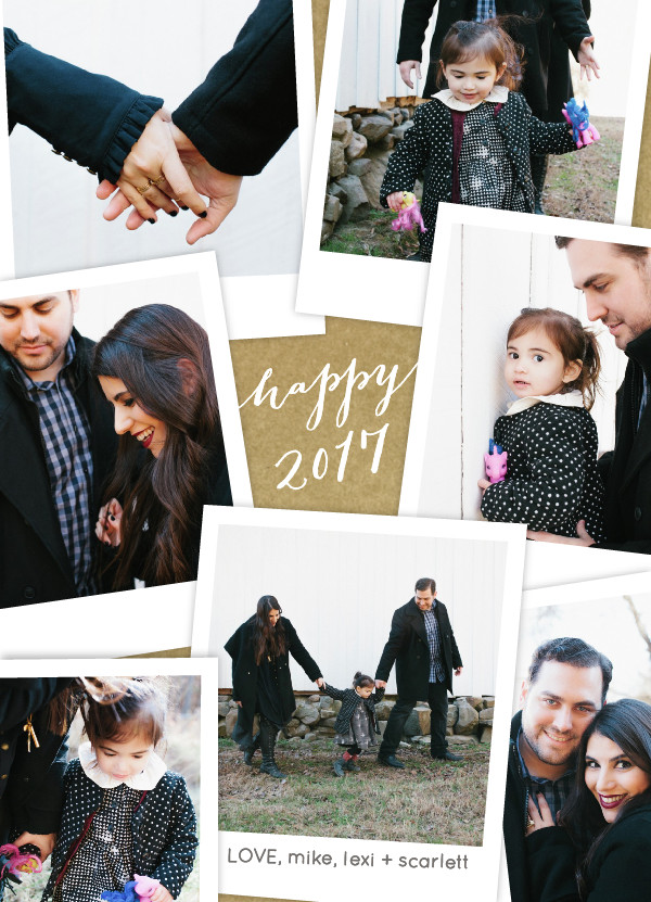 Happy New Year! (+ a Family Holiday Card for the Procrastinators) | glitterinc.com | @glitterinc