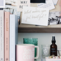 A few little love notes to the things I loved most this week, including this Blush Pink and Grey Book Shelf Styling.