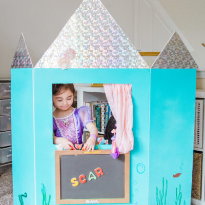 How to Make a DIY Puppet Theatre (Learning Colors, Numbers, and Letters too!)