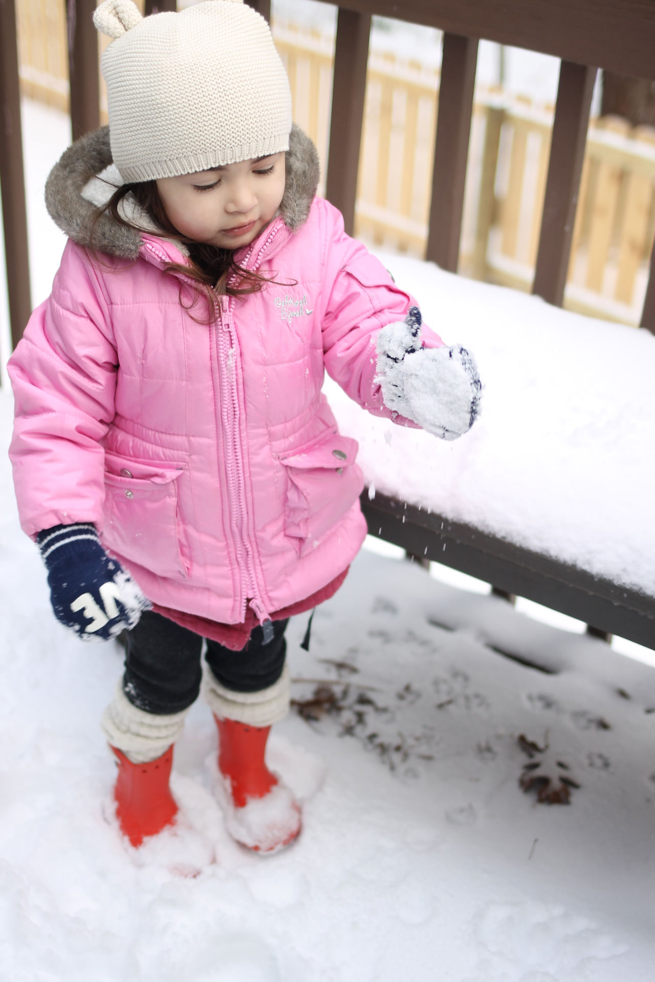 I love the traditions we're starting to make on snow day(s), like playing in the snow, making a big batch of cookies, and taking ALL of the pictures. | glitterinc.com | @glitterinc
