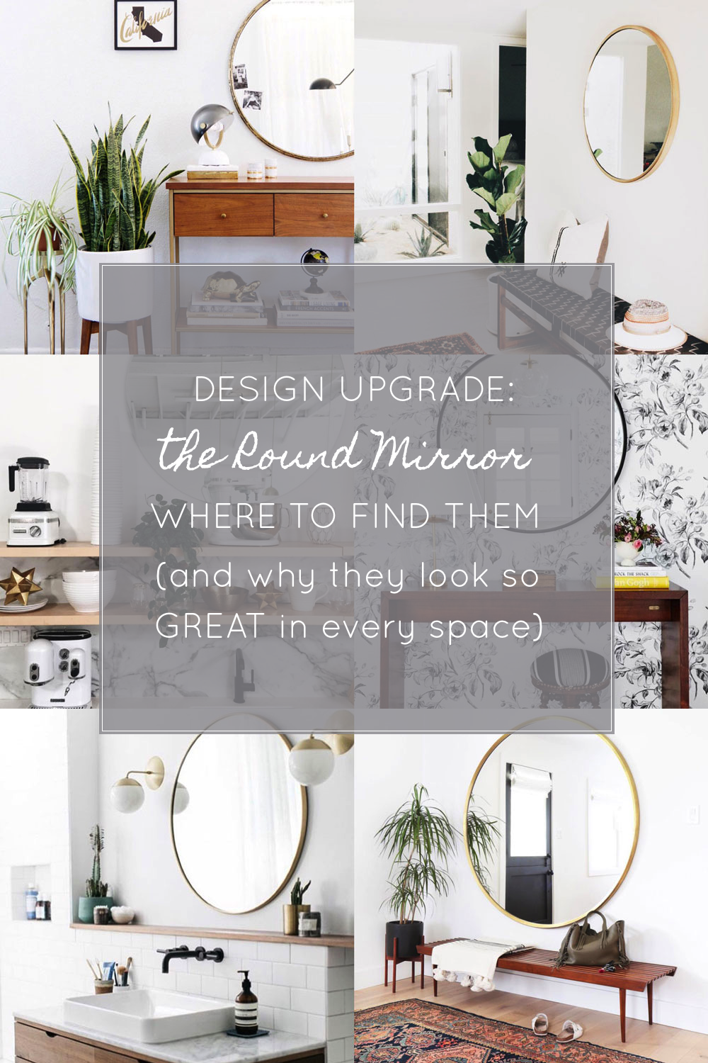 A Simple Modern Design Upgrade: the Round Mirror (Where to find them at every price + why they look so great in every space!) Click through for the details. | glitterinc.com | @glitterinc