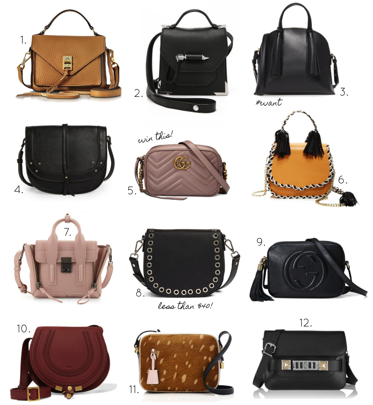 Spring Must-Have: 12 Mini Bags in Every Price Range. Click through for the details. | glitterinc.com | @glitterinc