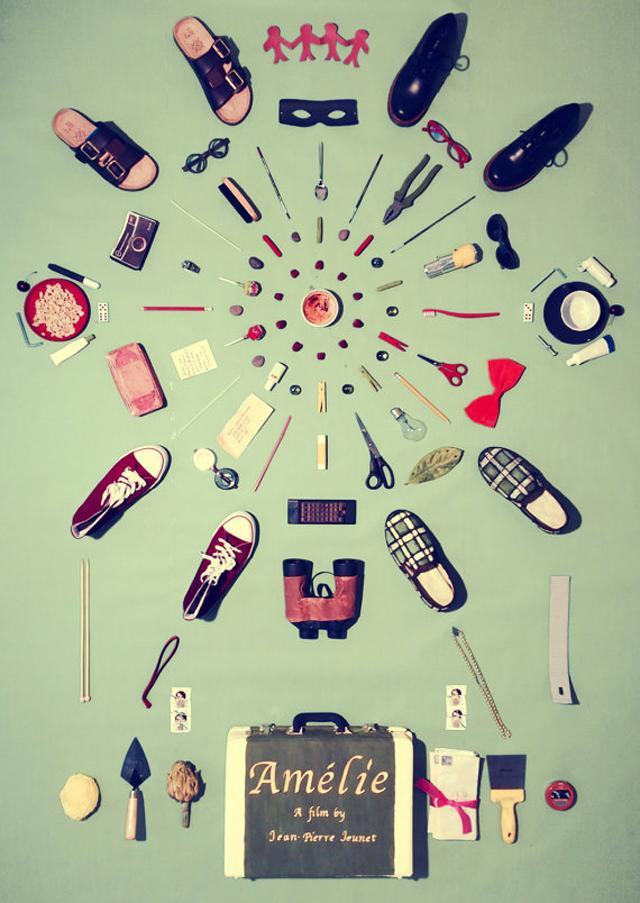 Cult Films as Posters: Amelie. Click through for more. | glitterinc.com | @glitterinc