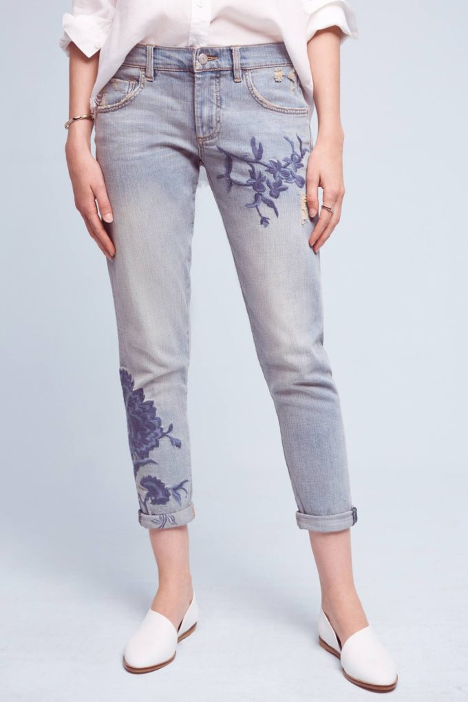 Anthropologie Pilcro Em High-Rise Boyfriend Jeans