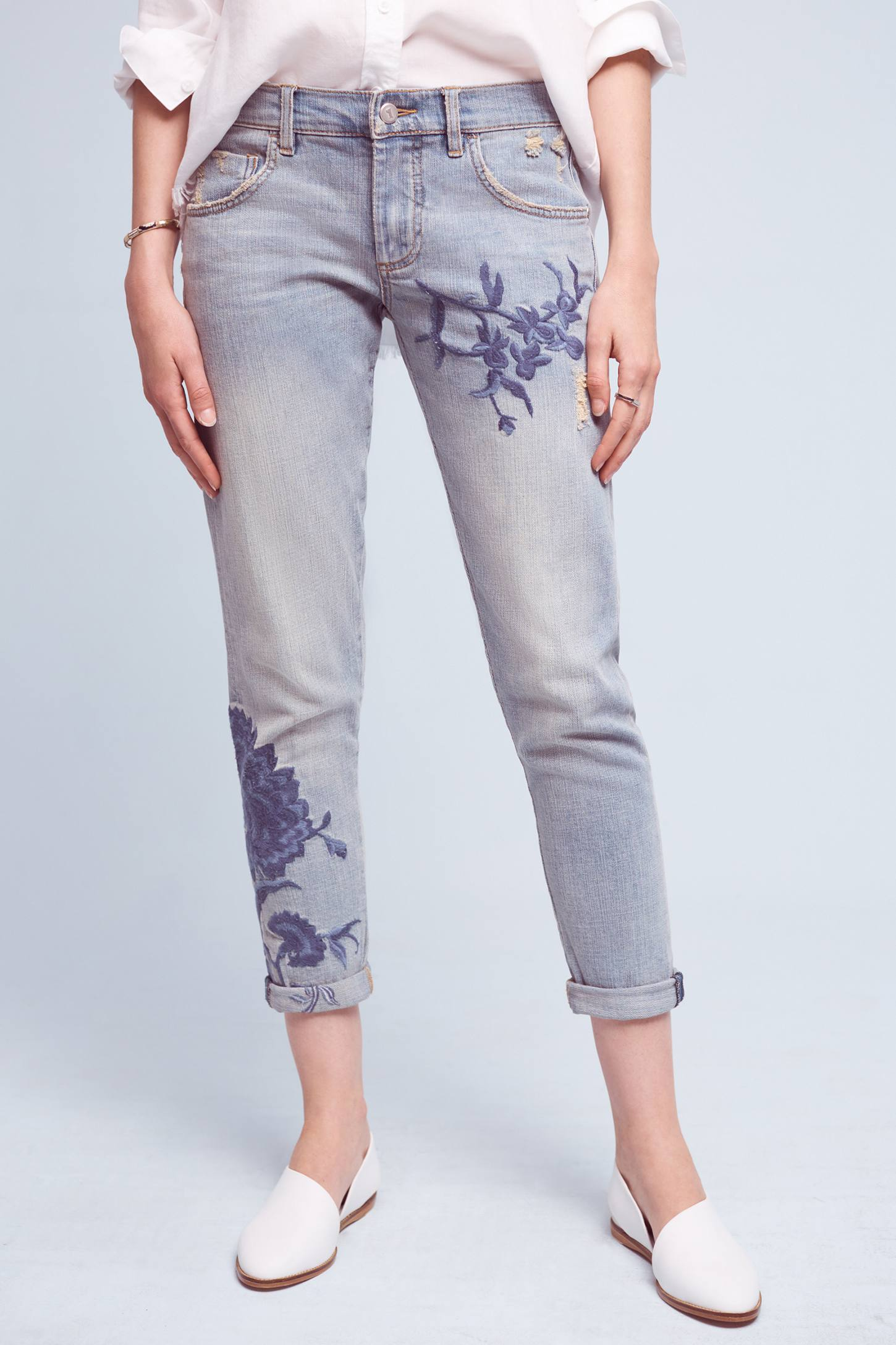 Anthropologie Pilcro Em High-Rise Boyfriend Jeans