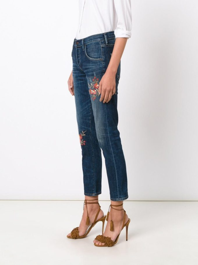 Citizens of Humanity Embroidered Flower Jeans