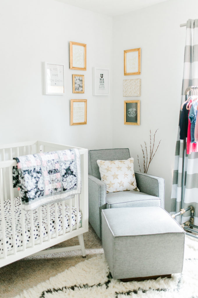 9 Nursery Must-Haves and a Tour of Our Baby Girl's Room. Click through for the details. | glitterinc.com | @glitterinc