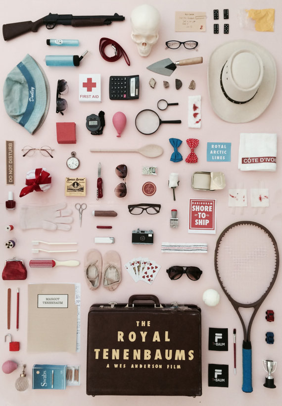 Cult Films as Posters: The Royal Tenenbaums. Click through for more. | glitterinc.com | @glitterinc