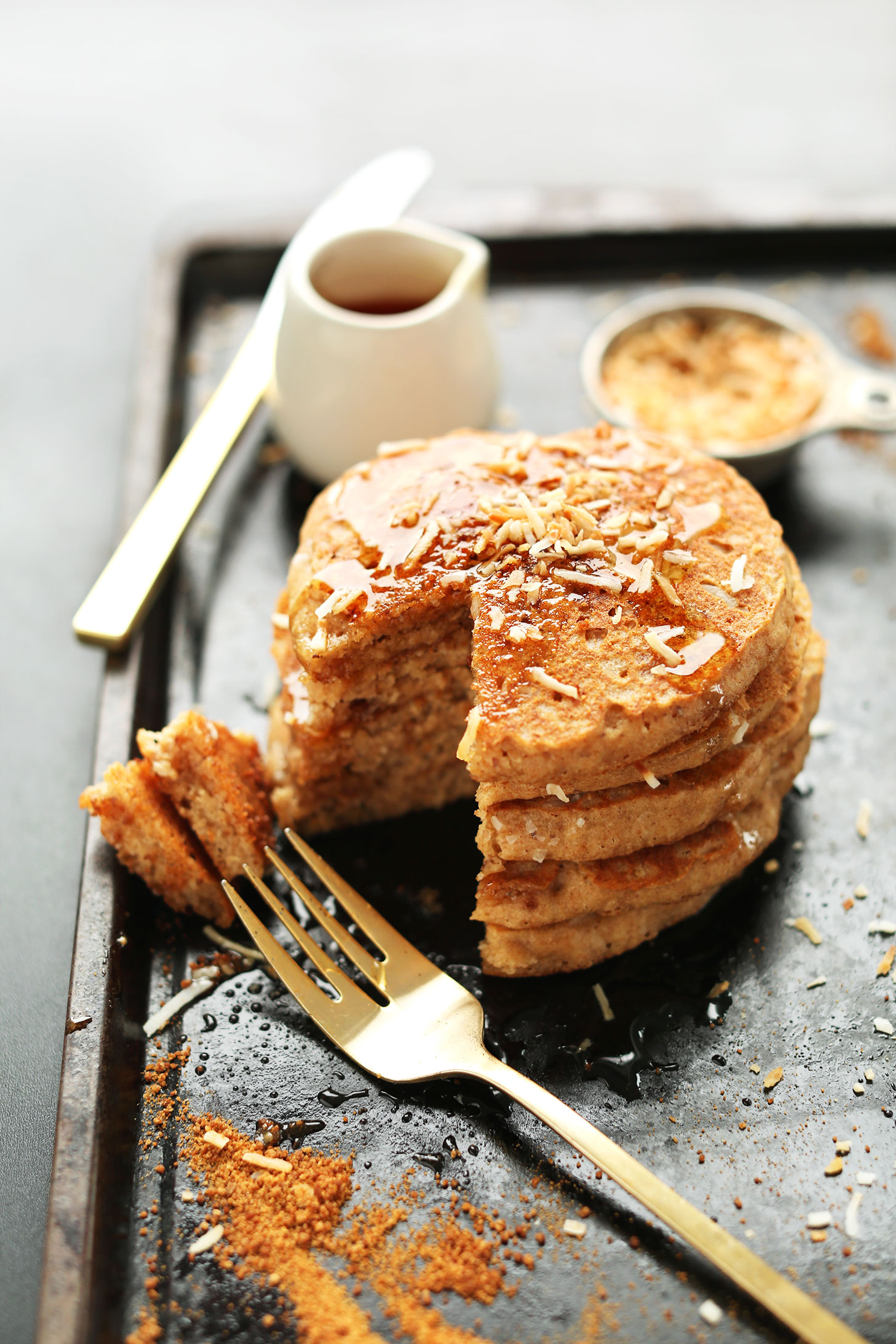 toasted-coconut-pancakes