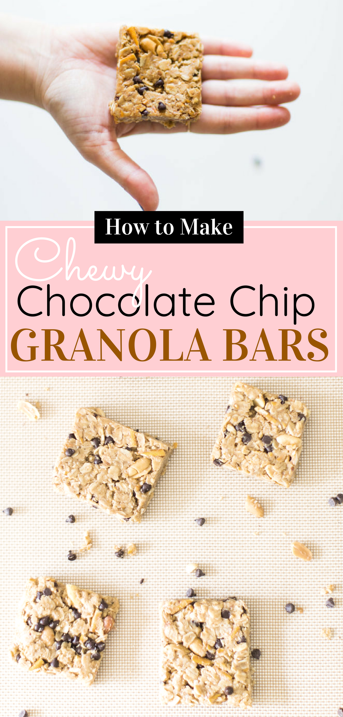 How to make our favorite dairy-free soft chocolate chip pretzel granola bars. Click through for the easy recipe. #granolabars #homemadegranolabars #dairyfree #homemadesnack | glitterinc.com | @glitterinc