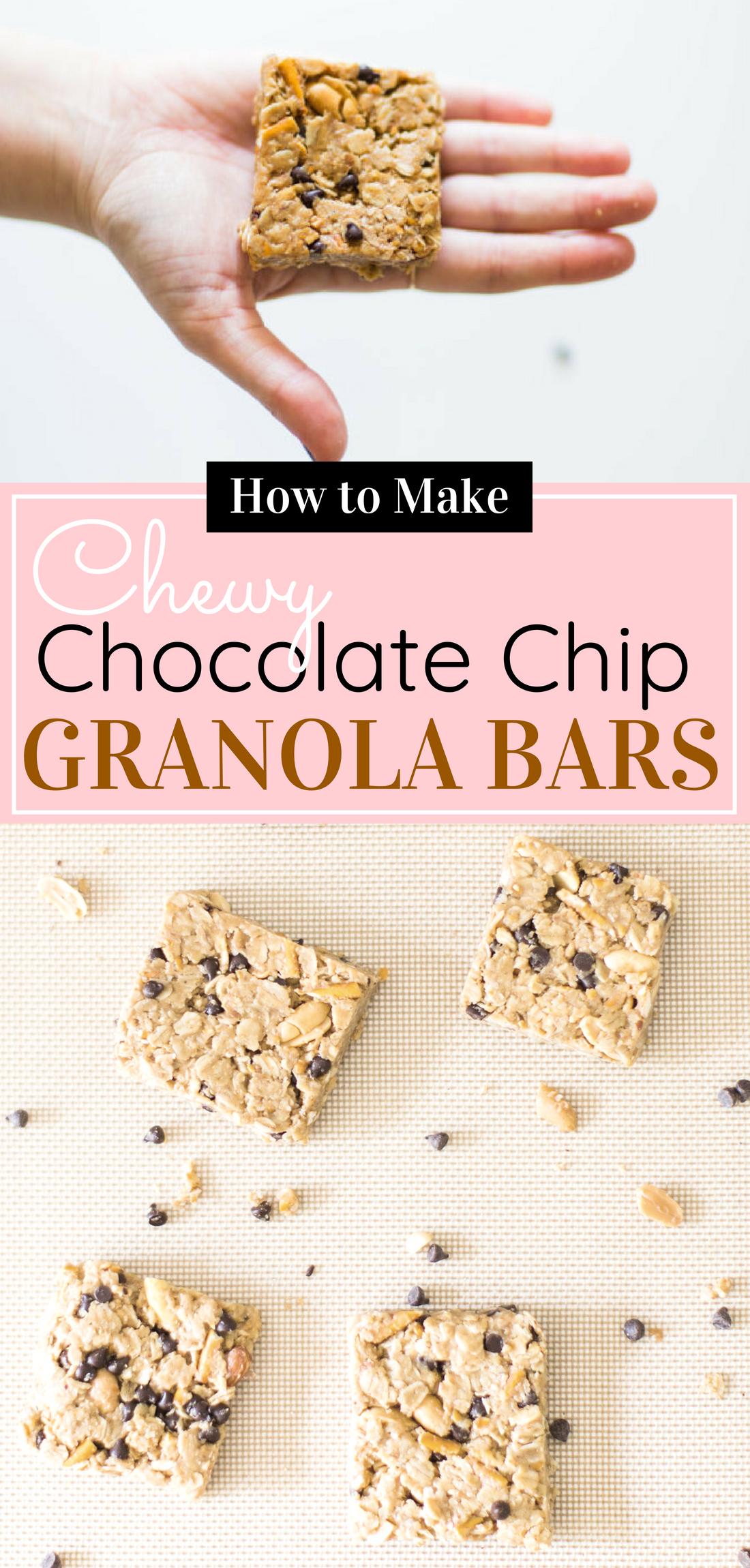 How to make our favorite dairy-free soft chocolate chip pretzel granola bars. Click through for the easy recipe. #granolabars #homemadegranolabars #dairyfree #homemadesnack | glitterinc.com | @glitterinc