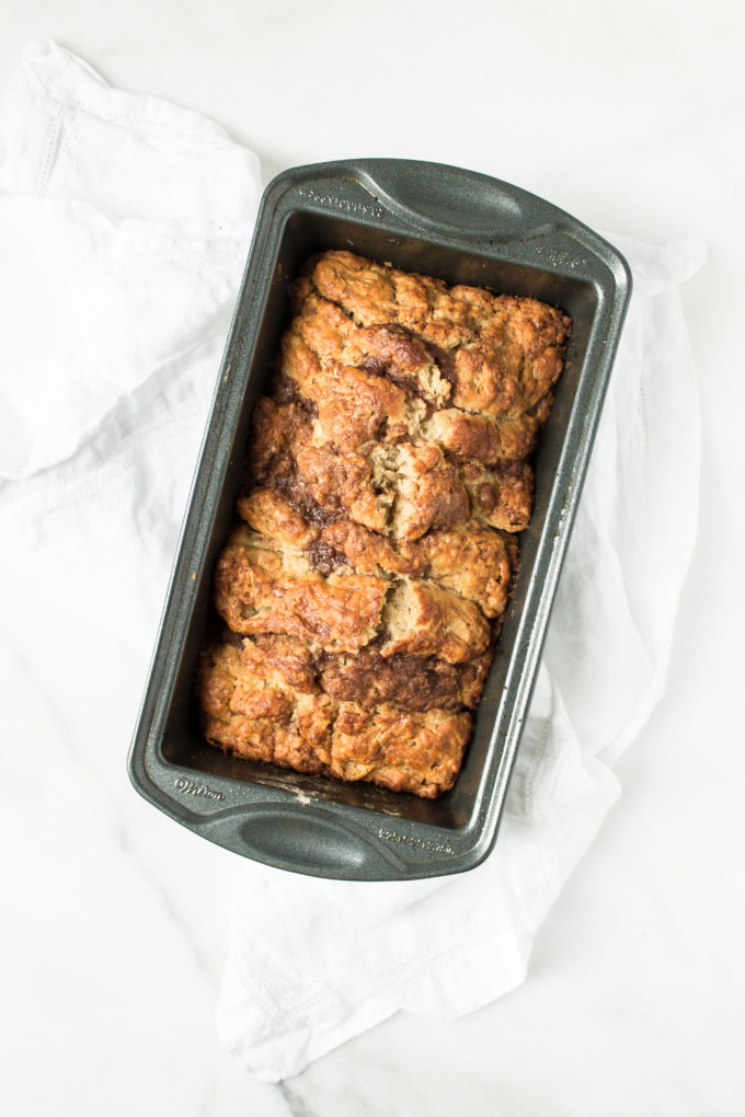 How to Make Homemade Cinnamon Streusel Scone Bread. Click through for the recipe. | glitterinc.com | @glitterinc