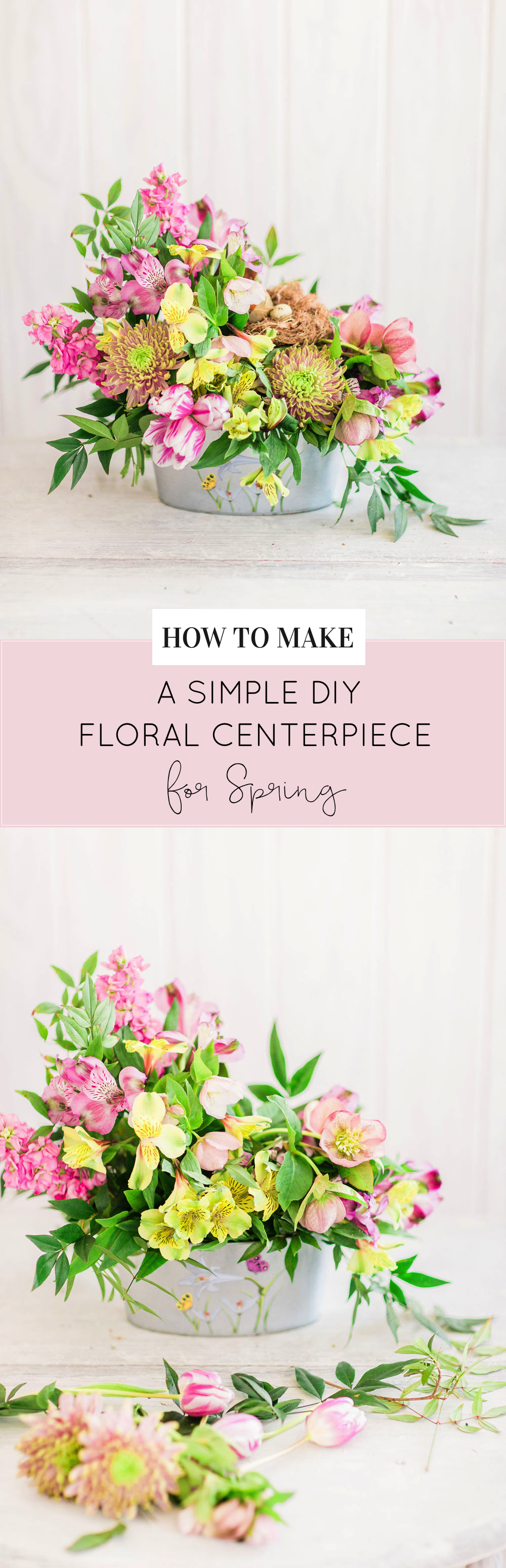 How to Make a Beautiful Spring Floral Arrangement by lifestyle blogger Lexi of Glitter, Inc.