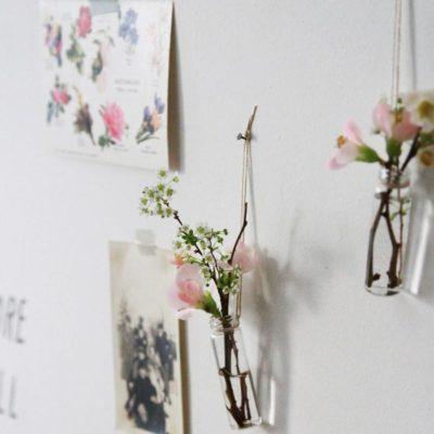 hanging medicine vial vases