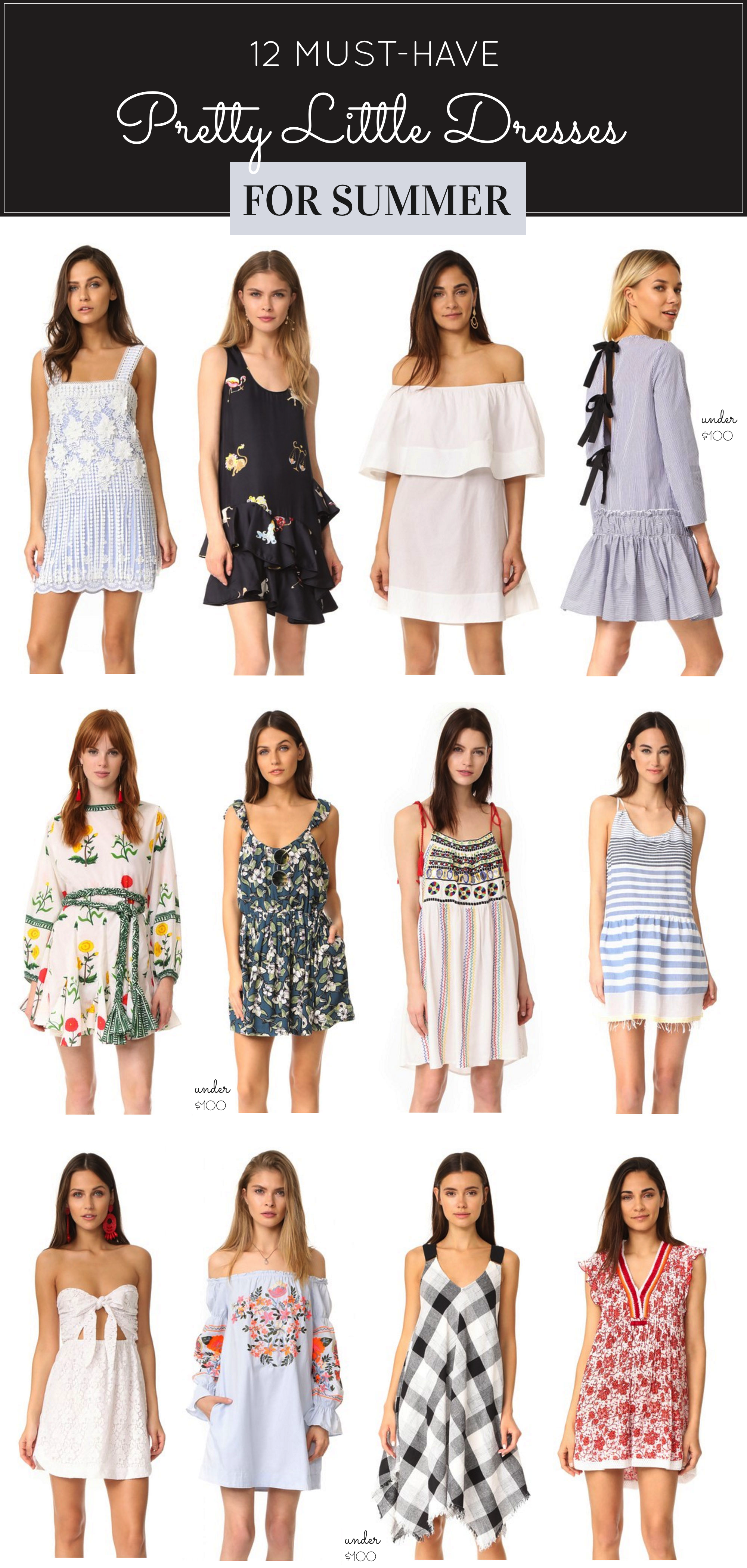 12 Pretty Little Summer Dresses, including a favorite I wear all year long. Click through for the details. | glitterinc.com | @glitterinc