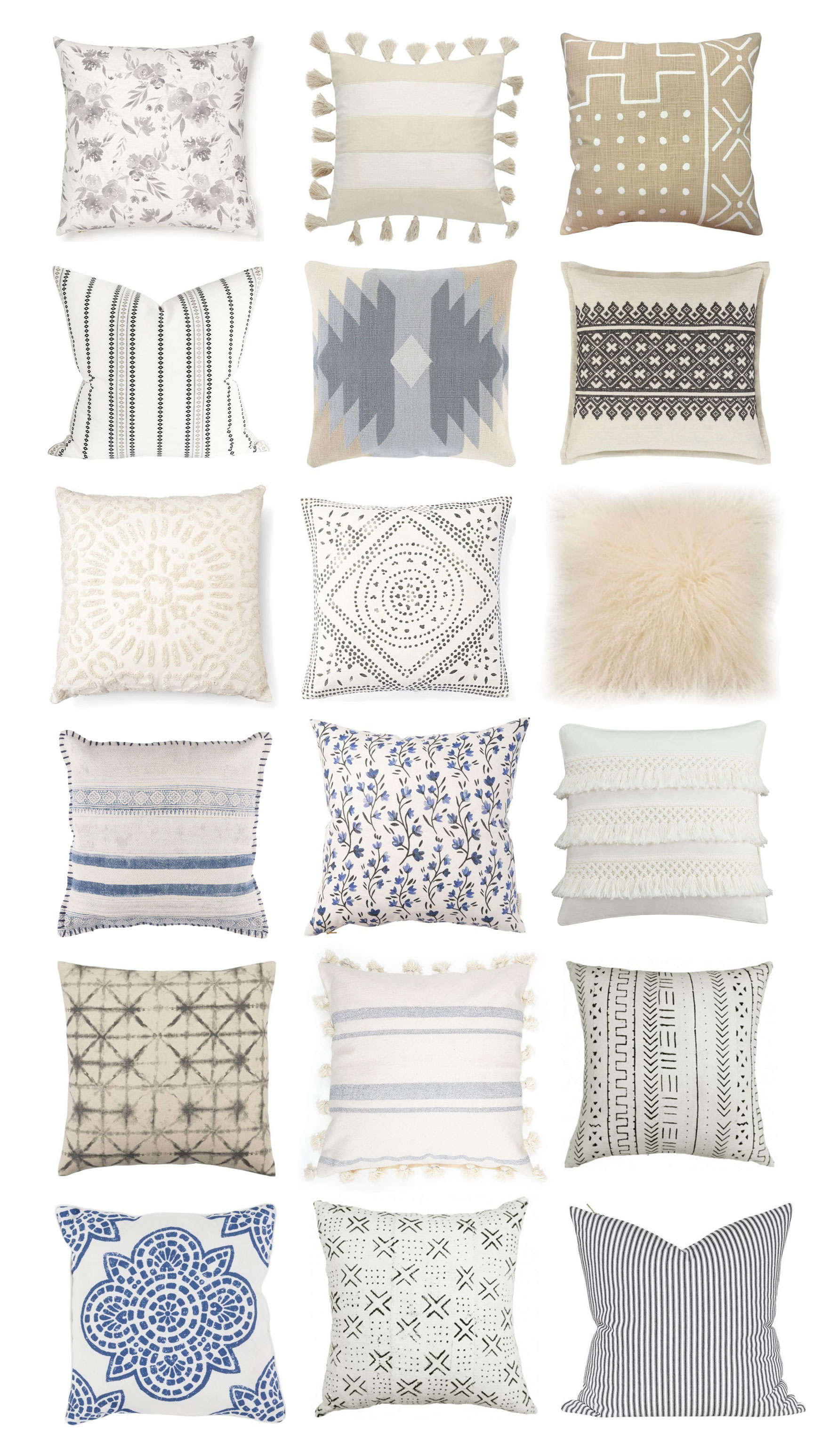 18 Neutral Throw Pillows to Spruce Up Any Space, because pillows make every room happier, more styled and pulled together. Click through for the details. #pillows #neutralpillows | glitterinc.com | @glitterinc