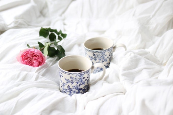 Cozy coffee in bed, by lifestyle blogger Lexi of Glitter, Inc. | glitterinc.com | @glitterinc