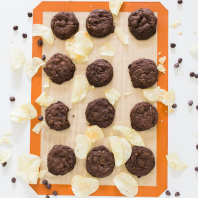 Double Chocolate Potato Chip Cookies (Perfect for a Summer Picnic!)