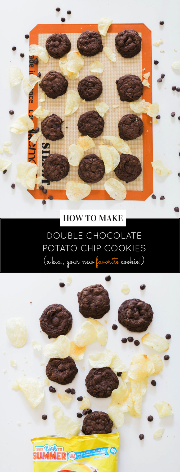 Decadent Double Chocolate Potato Chip Cookies by foodie blogger Lexi of Glitter, Inc. Click through for the recipe. | glitterinc.com | @glitterinc