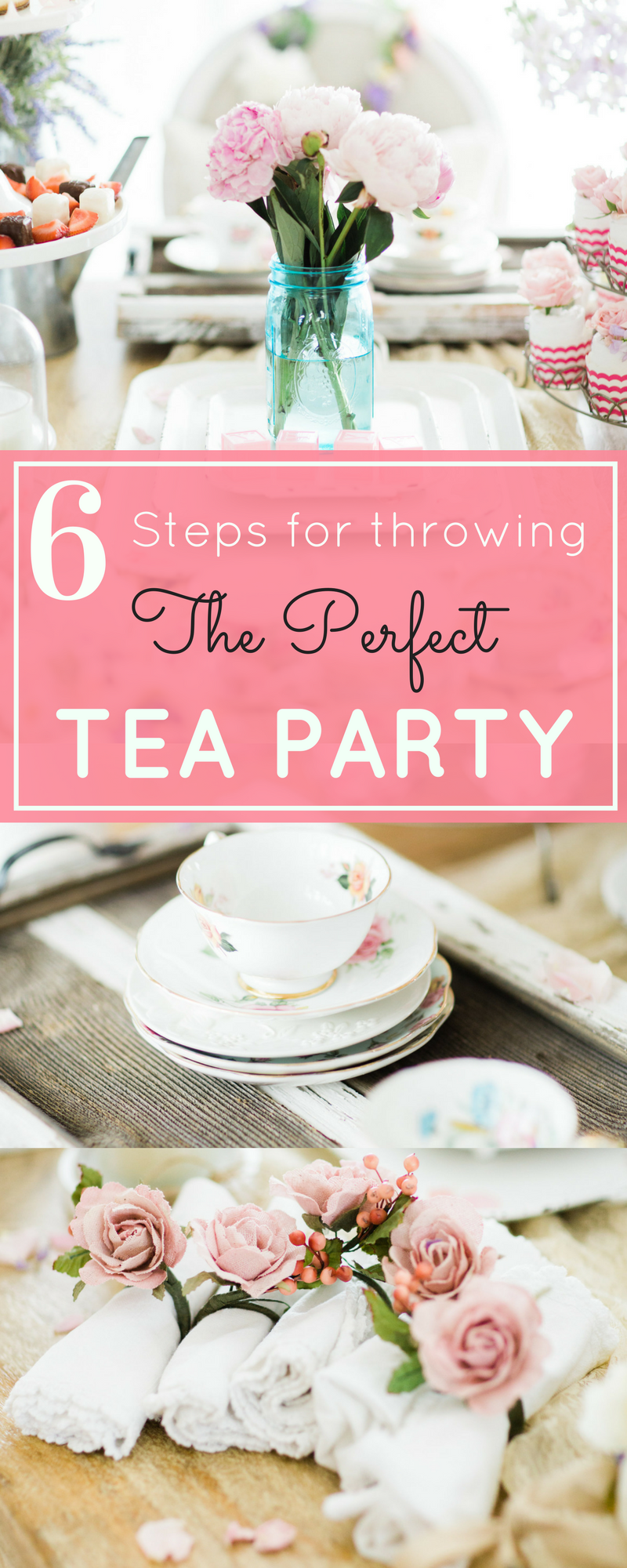 Throw the perfect tea party in just  6 easy steps! | glitterinc.com | @glitterinc