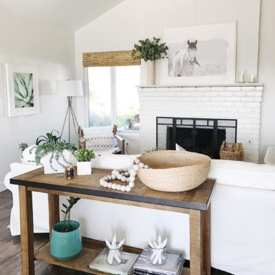 A Bright White & Rustic Home Decor in a California Home, Updated for Summer