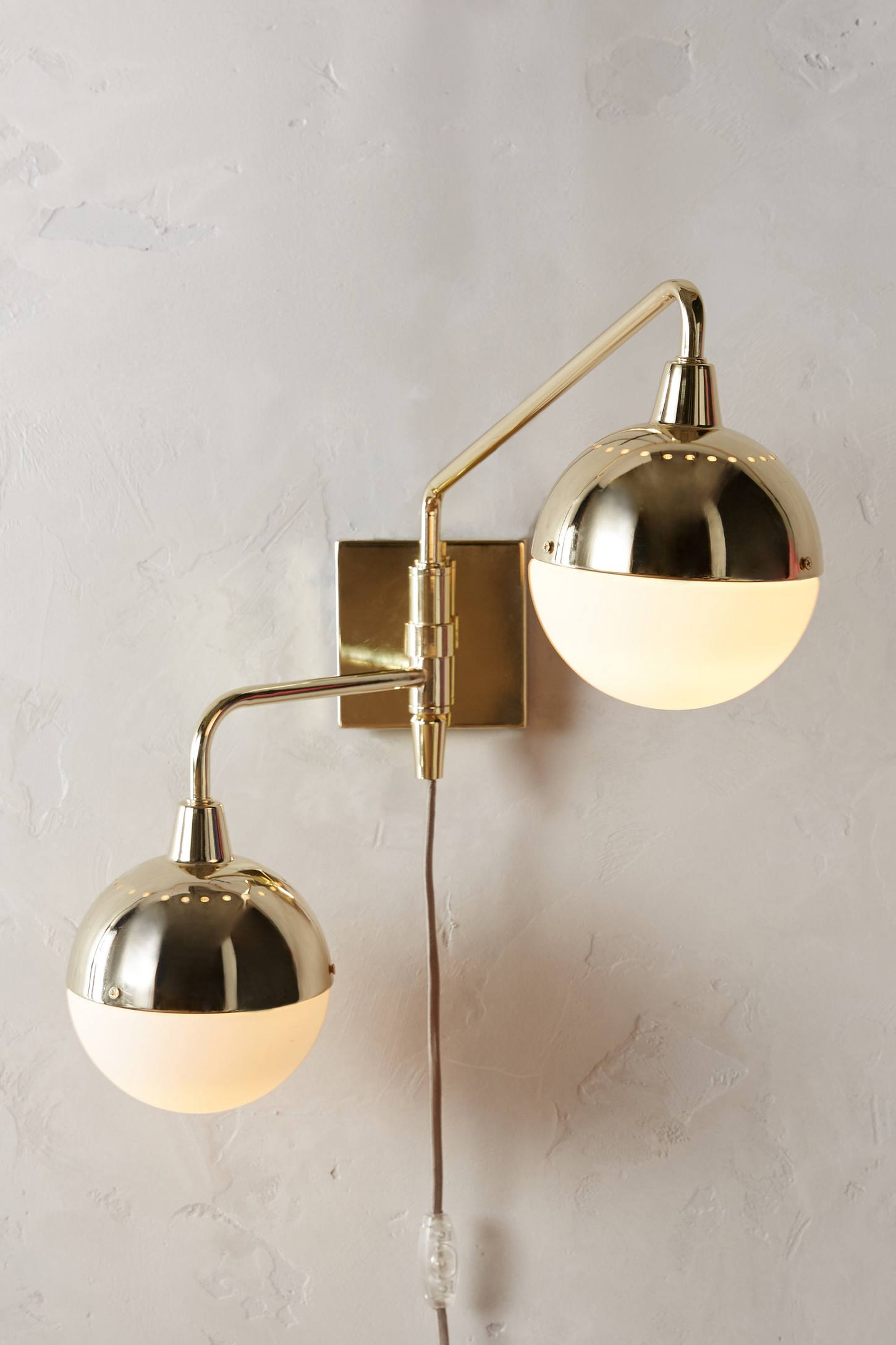 Anchored Orb Two-Arm Sconce