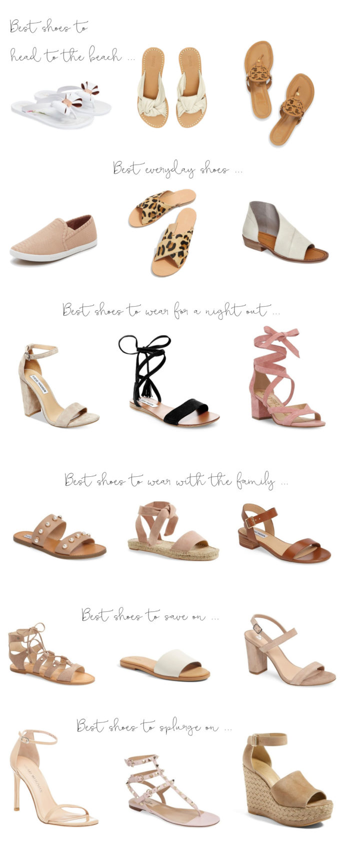 The Best Shoes to Wear for Every Occasion this Summer. Click through for the details. | glitterinc.com | @glitterinc