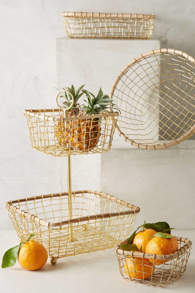 Brushed Wire Fruit Bowl