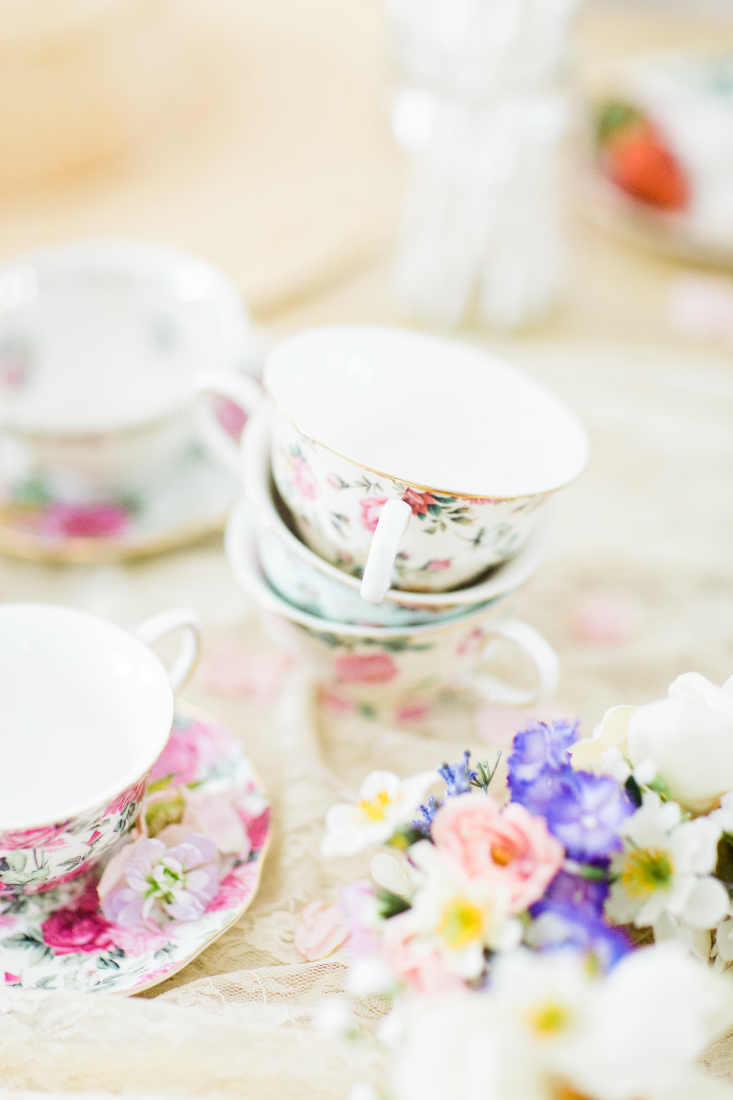 Lifestyle blogger Lexi of Glitter, Inc. shares how to throw a tea party baby shower in 6 easy steps; plus a DIY diaper
