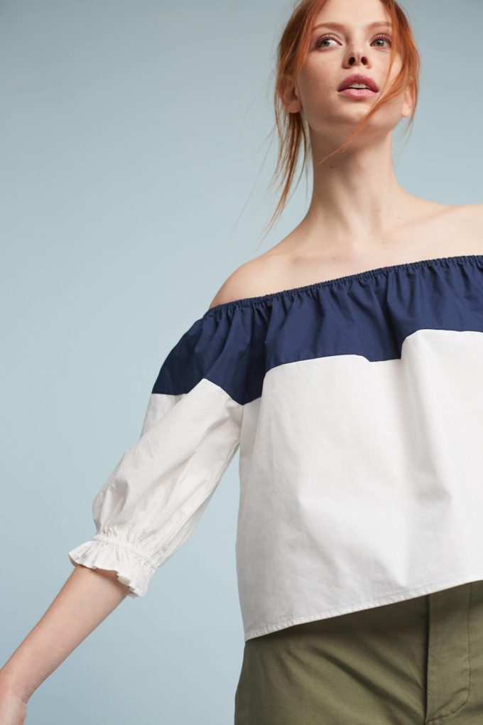Splitshade Off-The-Shoulder Blouse