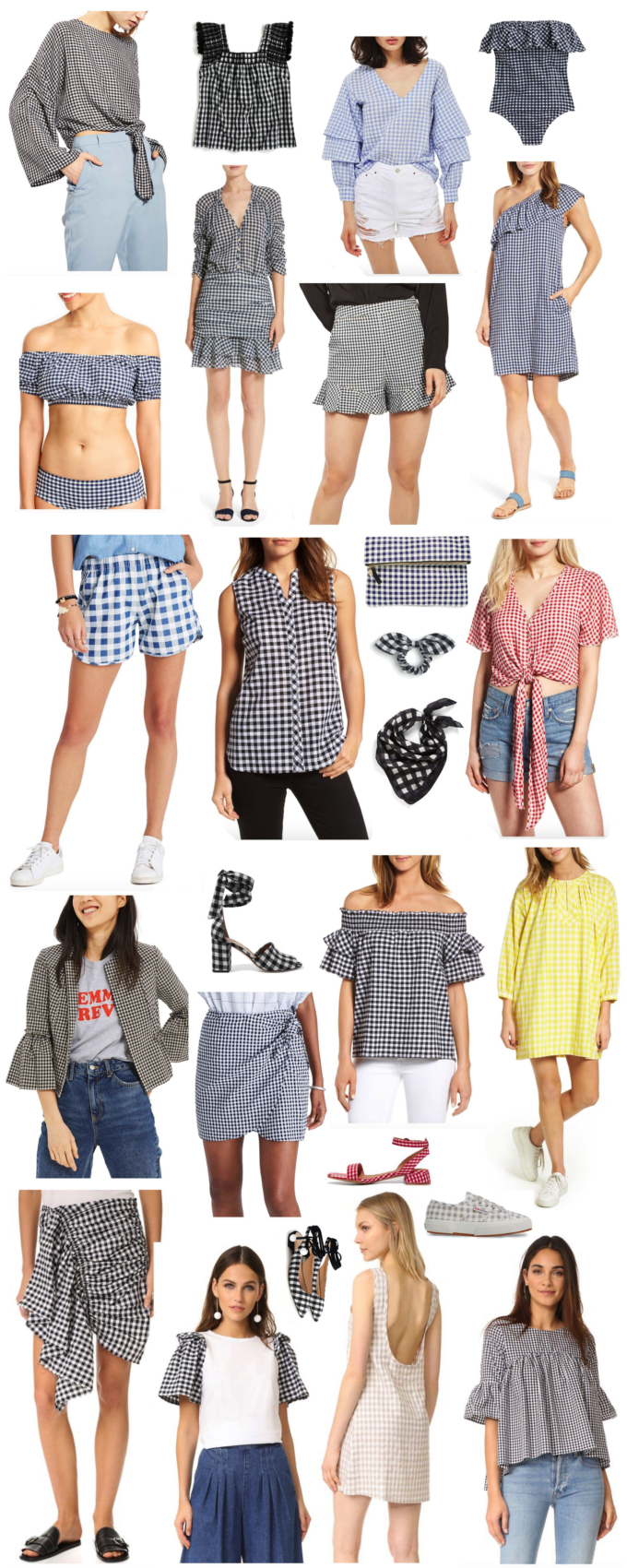 Trend-Spotting: A Huge Roundup of Gingham for Summer. Click through for the details. | glitterinc.com | @glitterinc