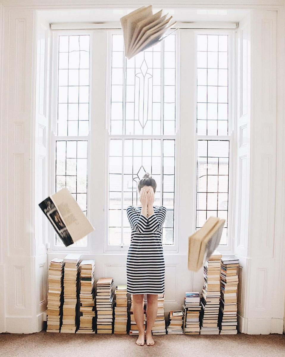 Instagram Gems: books with a view out a dreamy window in the UK. Click through for the details.   glitterinc.com   @glitterinc