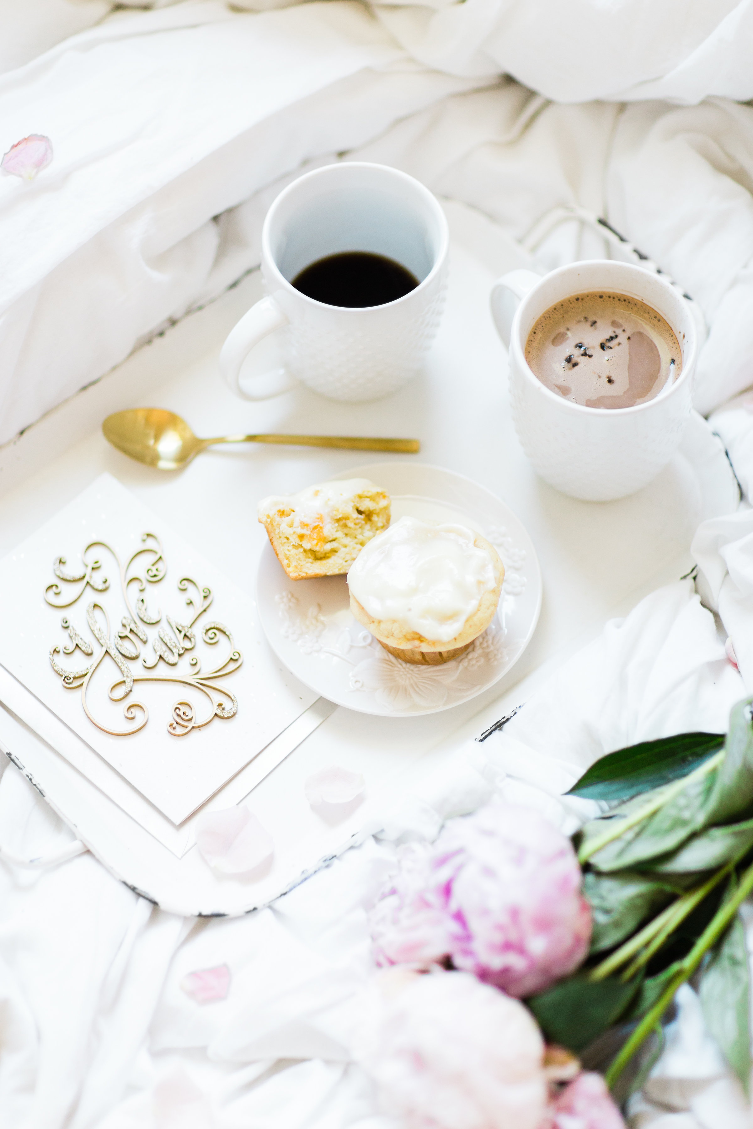Celebrating love in simple and sweet ways with the perfect card and breakfast in bed. #HallmarkAtWalgreens #ad | glitterinc.com | @glitterinc