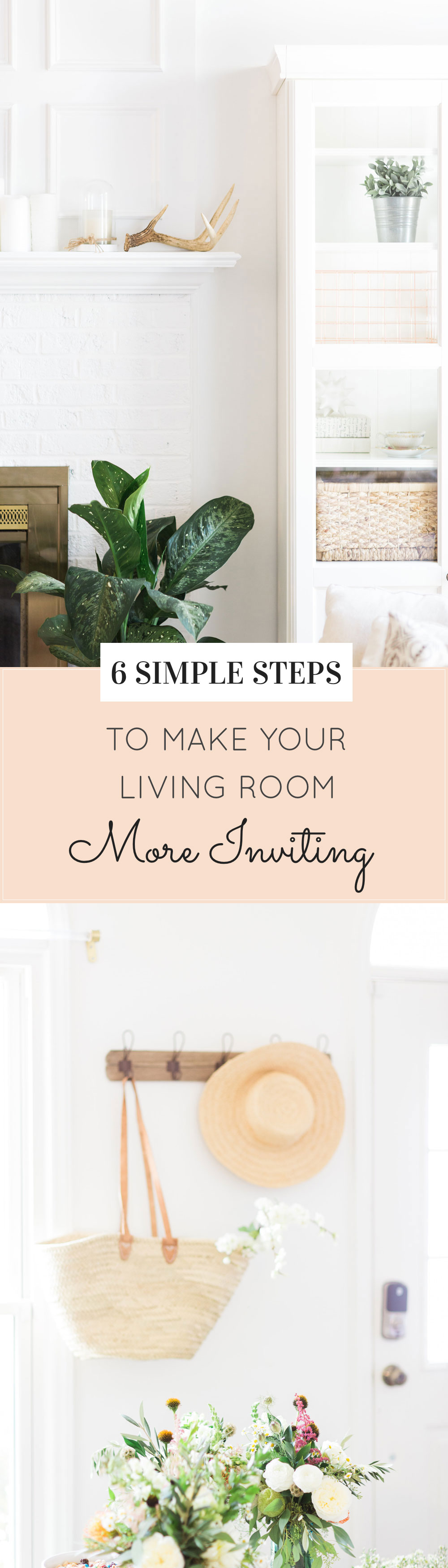 Lifestyle and home décor blogger Lexi of Glitter, Inc. shares 6 ways to make your living room more inviting. Click through for the details. | glitterinc.com | @glitterinc