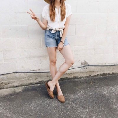 All The Cool Girls Are Wearing Them: Woven Leather Mules