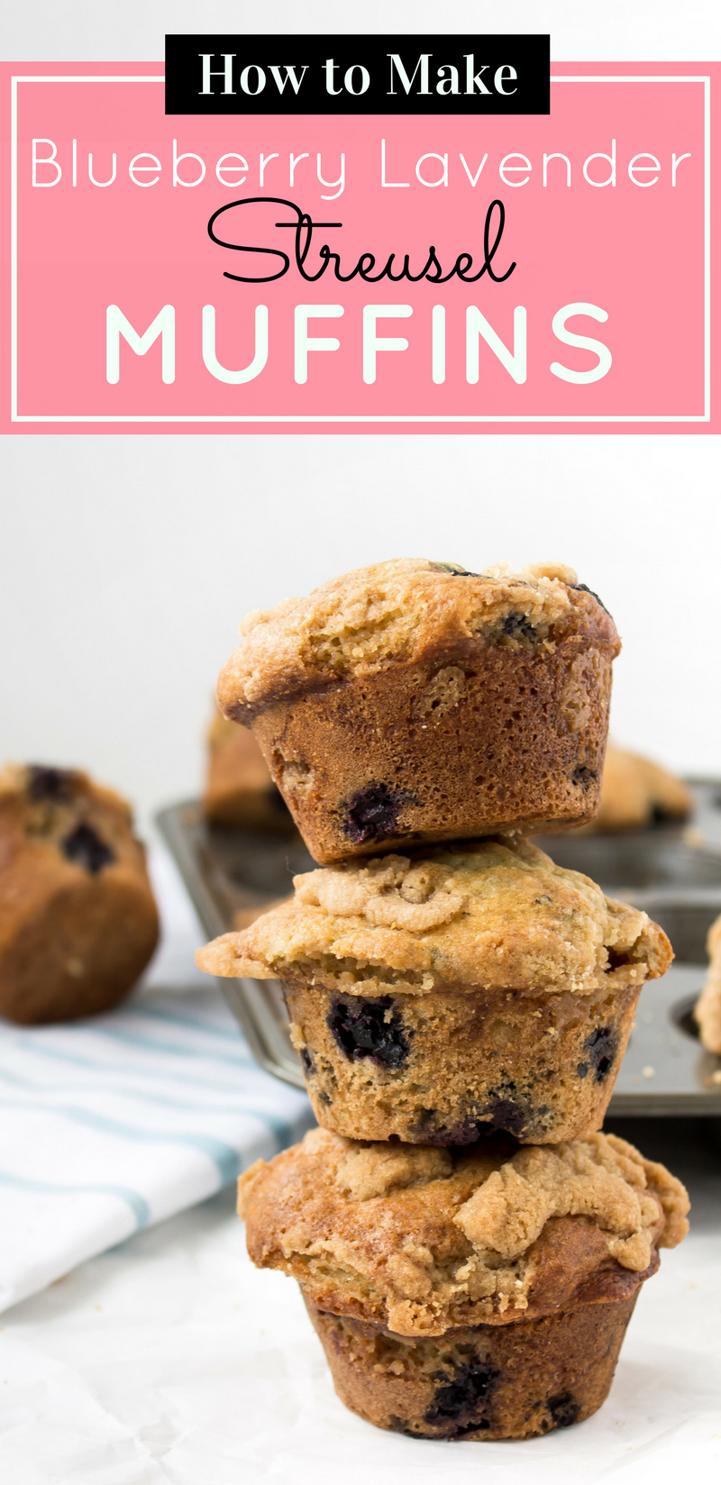 The most incredible blueberry lavender streusel muffins packed with fresh blueberries, a hint of delicate lavender, and topped with a buttery-sweet streusel. YUM. Click through for the recipe. | glitterinc.com | @glitterinc