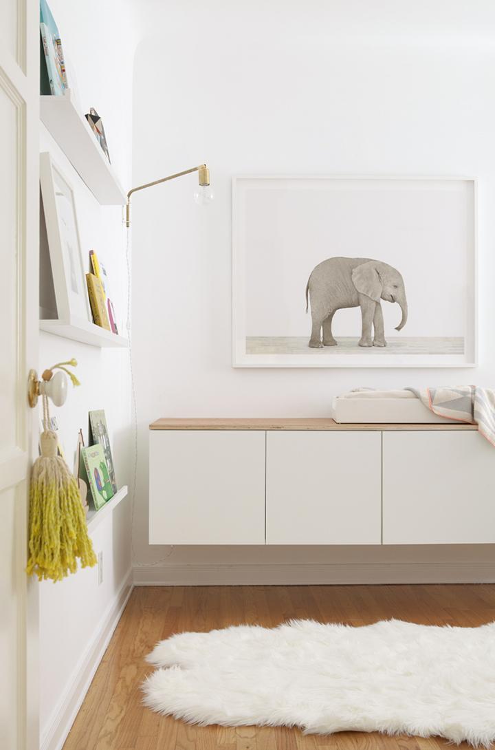 Home Design Trends: Chic Door Knob Tassels. Dip-Dyed Door Handle Tassel on a Nursery Door. Click through for the details. | glitterinc.com | @glitterinc