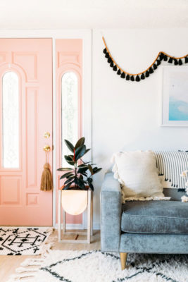 Door Tassel on a Pink Interior Door via Blogger Goldalamode's Home