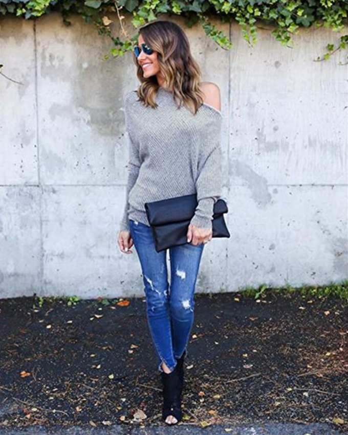 These 10 cozy sweaters are perfect for fall, they're all under $27, and available at Amazon! | glitterinc.com | @glitterinc - 12 Perfect Fall Sweaters Under $30 - From Amazon! by North Carolina lifestyle blogger Glitter, Inc.