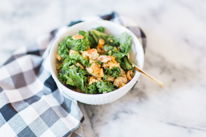 How to make the most amazing knockoff version of the harvest bowl salad at sweetgreen. This one is salad done right. Click through for the recipe.   glitterinc.com   @glitterinc