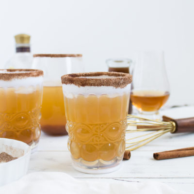 Pumpkin Ginger Bourbon Punch Cocktail