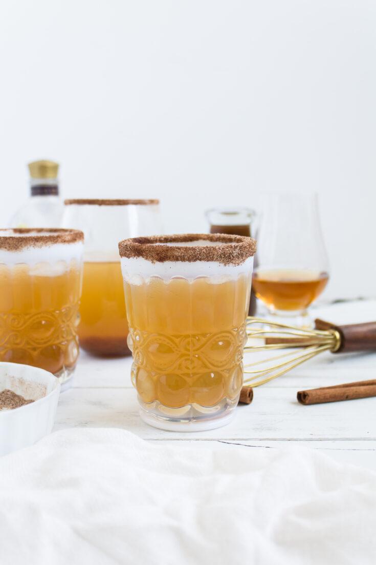 Pumpkin Ginger Bourbon Punch Cocktail