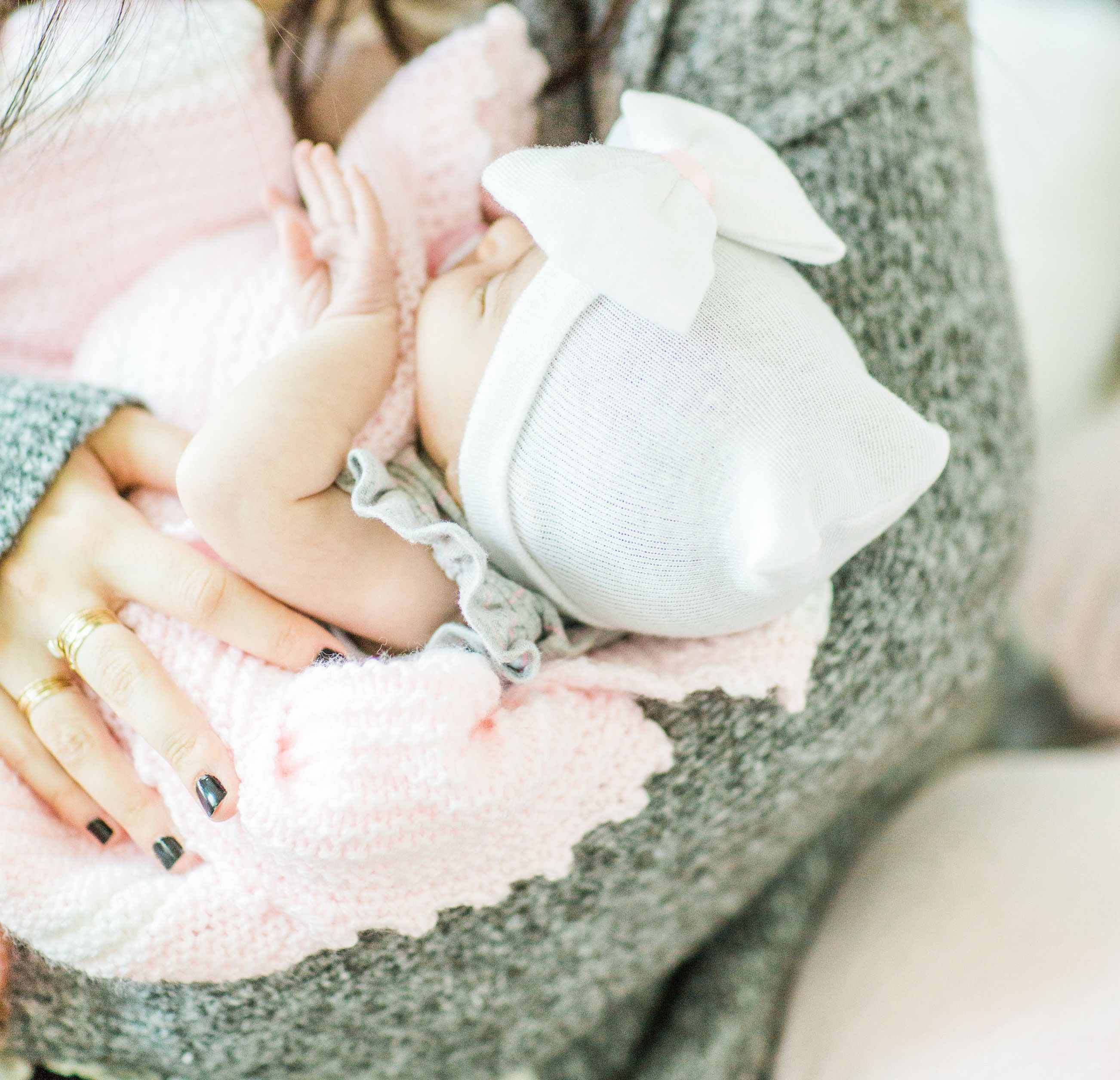 Mom blogger Lexi of Glitter, Inc. shares a sweet letter to her second baby girl, Emmeline, at eight weeks old; newborn updates and all. | glitterinc.com | @glitterinc